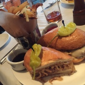 French Dip and Rosemary-Truffle Fries at The Hamilton